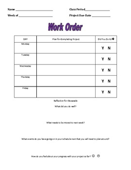 Work Order for Students