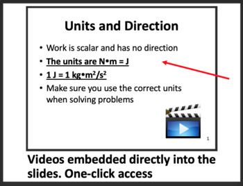 Work and Energy - Physics PowerPoint Lesson and Student Notes Package