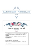 Work Place- BABY SHOWER –POSTER PACK- Boy