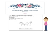 Work Place- Baby Shower Organisation- Clothes Line Prediction Template- Boy