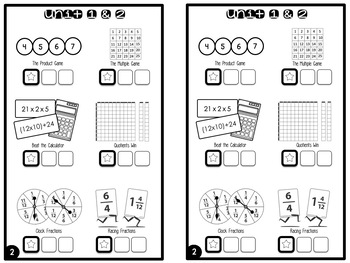 Work Place Log & Labels {5th Grade Bridges Math} by First ...