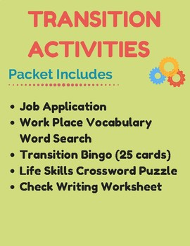 Work Place & Transition Activities
