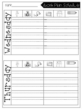 Work Plan/ Daily 5 Rotation Reflection Sheet