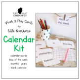Work & Play Cards Calendar Kit for Little Learners