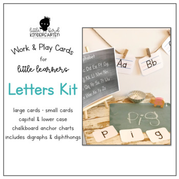 Work & Play Cards Letters Kit for Little Learners