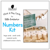 Work & Play Cards Numbers for Little Learners