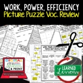 Work, Power, Efficiency Simple Machines Picture Puzzle Stu