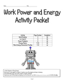 Work - Power - Energy Activity Packet (honors) 5th, 6th, 7