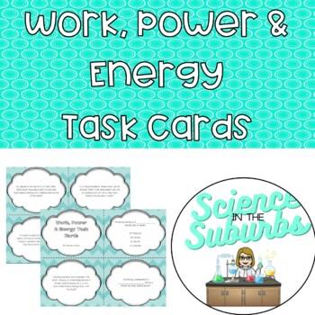 Work, Power & Energy Task Cards