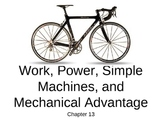 Work, Power, Simple Machines, and Mechanical Advantage Notes