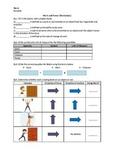 Work, Power, and Energy - Worksheet