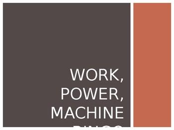 Work, Power, and Machine BINGO