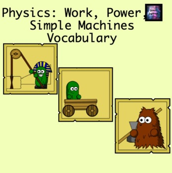 Work Power and Machines Vocabulary