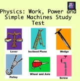 Work, Power, and Simple Machines Test