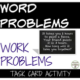 Rational Function Task Card Activity Work Problem Word Problems