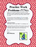 Practice Work Problems TEKS 7.7A