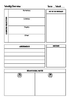 Work Program Weekly Planner