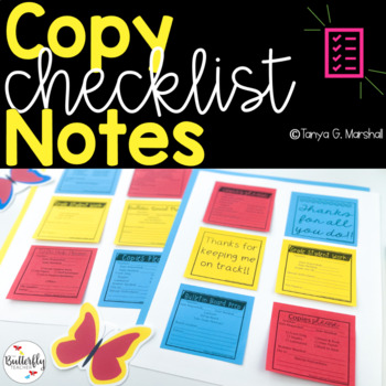 Work Request Notes [Editable] | Copy Checklist Notes