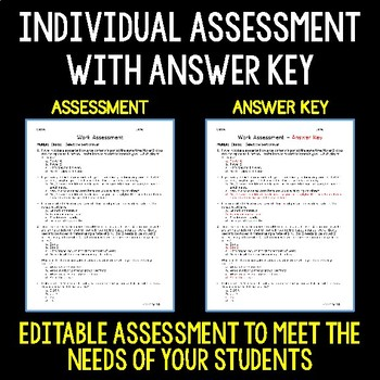 Work - Science Assessment