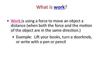 Work & Simple Machines Bundle