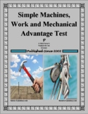 Simple Machines, Work and Mechanical Advantage Test