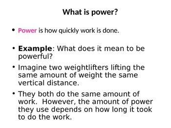 Work & Simple Machines Powerpoint