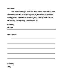 Work Skills: Encouraging Words by Dear Abby