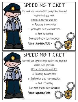 Work Speeding Ticket