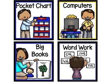 Work Station & Center Signs-The Modern Classroom