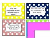 Work Station Debriefing Cards