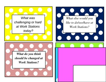 Work Station Debriefing Cards