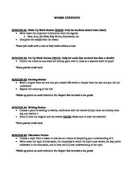 Work Station Handout (Danielson Framework) / Differentiated Tasks