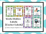 Work Station Labels (Center Labels)