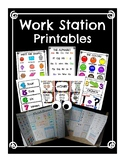 Work Station Printables: Reference Sheets, Homework, Blockers, Student Divider
