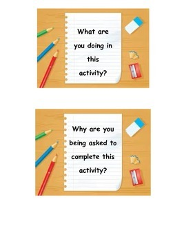 Work Station Question Cards