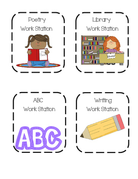 Work Station Rotation Cards