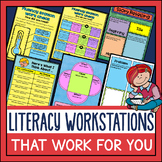 Literacy Work Stations in Digital for Google Slides and PD