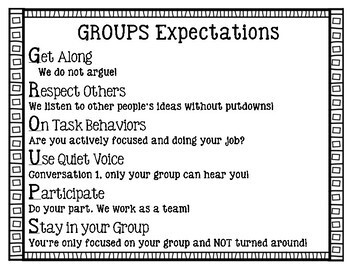 Work Station & Group Expectations