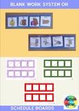 Blank Work System/ Schedule Boards