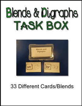 Work Task Box  Blends and Digraphs 33 Cards