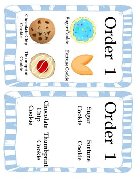 Work / Vocational Task: Fill the Cookie Order