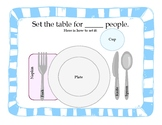 Work / Vocational Task: Set the Table