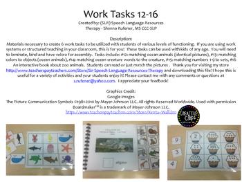 Work Tasks 12-16