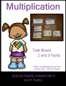 Work Tasks Cards Multiplication 2 and 3 Facts
