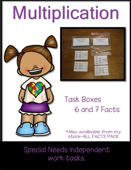 Work Tasks Cards Multiplication 6 and 7 Facts