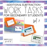 Work Tasks for Secondary Students {Addition & Subtraction}