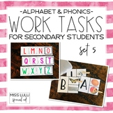 Work Tasks for Secondary Students {Alphabet & Phonics}