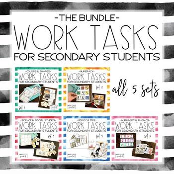 Work Tasks for Secondary Students Bundle