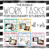 Work Tasks for Secondary Students Bundle