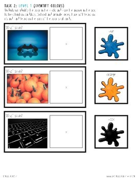 Work Tasks for Secondary Students: Set 1 {Colors & Shapes}